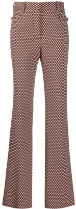 Victoria Beckham Geometric Pattern Flared Trousers