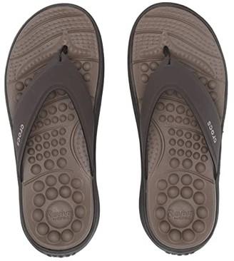 Crocs Reviva Flip (Espresso/Espresso) Sandals