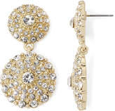 MONET JEWELRY Monet Gold-Tone Crystal Double Drop Earrings