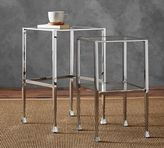 Pottery Barn Tanner Nesting Side Tables - Polished Nickel finish