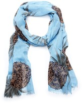 Sole Society Graphic Tropical Print Scarf