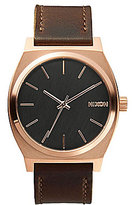 Nixon The Time Teller Analog Leather Strap Stainless Steel Analog Watch