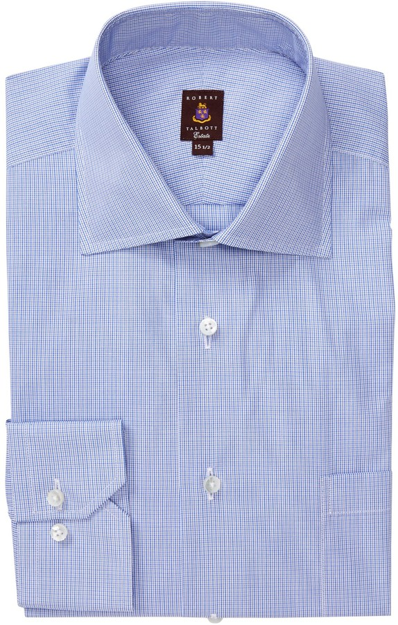 Robert Talbott Classic Fit Micro Windowpane Dress Shirt