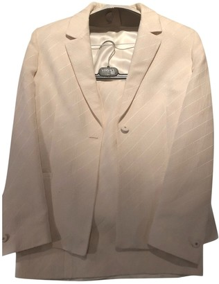Versace White Cotton Skirt for Women Vintage