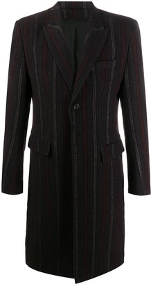 Ann Demeulemeester Striped Single-Breasted Coat