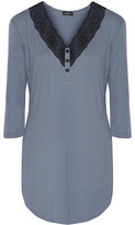 Cosabella Perugia Lace-Trimmed Pima Cotton And Modal-Blend Nightdress