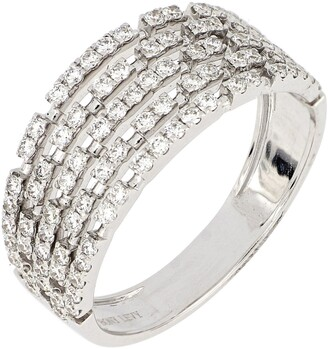 Bony Levy Bardot Multi Row Diamond Wide Band Ring