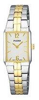 Pulsar Women's PTA414 Dress Rectangular Silver Dial Two-Tone Watch