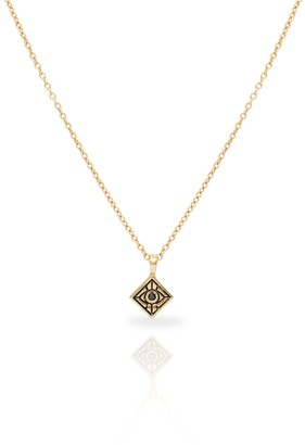 Vision Necklace With Black Diamond 14K Yellow Gold