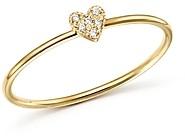 Zoë Chicco 14K Yellow Gold Tiny Diamond Heart Ring