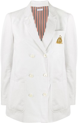 Thom Browne Pleated Back Double-Breasted Jacket