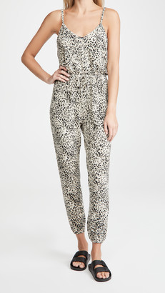 BB Dakota Cat Like Reflexes Leopard Jumpsuit