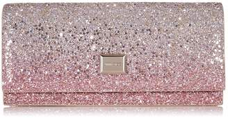 Jimmy Choo LILIA Platinum and Flamingo Ice Glitter Degrade Mini Bag