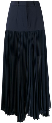 Rokh Pleated Contrast Skirt