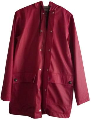 Petit Bateau Red Trench Coat for Women