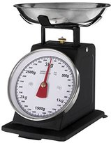 Kurt Geiger Premier Housewares Retro Style Kitchen Scale with Stainless Steel Bowl, 3 Matt Black