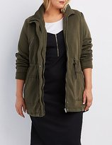 Charlotte Russe Plus Size Knit Drawstring Anorak Jacket