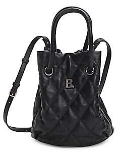 Balenciaga Women's Small B Quilted Leather Bucket Bag
