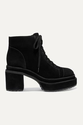 Cult Gaia Bratz Suede Ankle Boots - Black