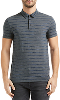 Hugo Boss Boss Orange Playmate Stripe Polo Shirt, Dark Blue