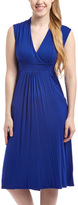 Glam Navy Surplice Dress