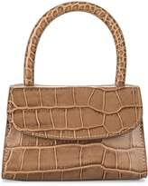 BY FAR Crocodile-Embossed Leather Top Handle Bag