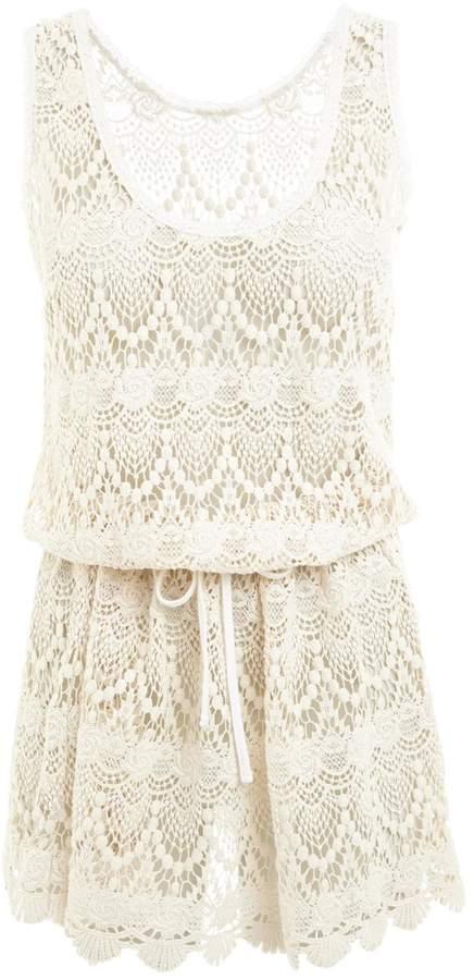 Melissa Odabash Alison Cream Lace Dress