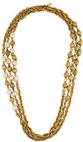 Chanel Pearl & Byzantine Bead Necklace