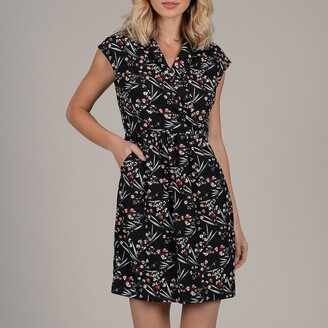 Molly Bracken Short Wrapover Dress in Floral Print