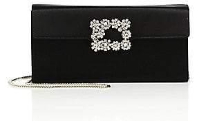 42af3fe8986d Roger Vivier Women's Satin Crystal-Flower Envelope Clutch