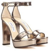 Jimmy Choo Holly 120 Platform Patent Leather Sandals