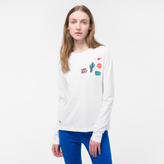 Paul Smith Women's White Long-Sleeve T-Shirt With Appliqué Patches