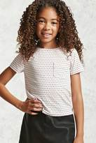 Forever 21 FOREVER 21+ Girls Heart Print Tee (Kids)