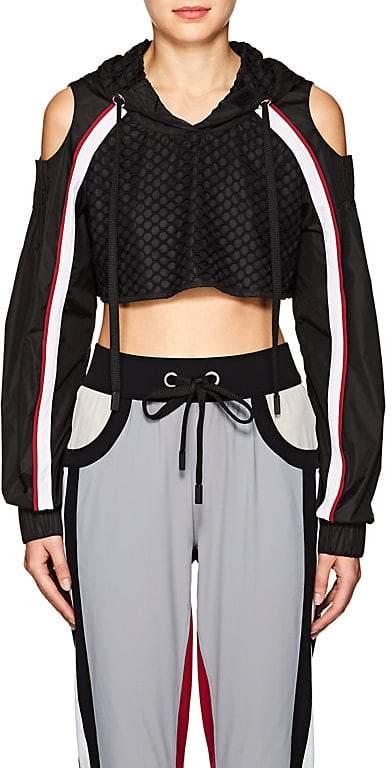 NO KA 'OI No Ka'Oi Women's Lanai Cutout-Shoulder Tech-Fabric Crop Top