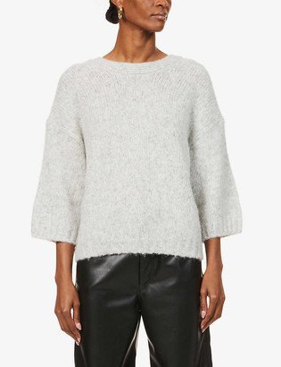 BA&SH June scoop-neck wool-blend jumper