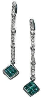 Effy Black Diamond Diversa Earrings in 14 Kt. White Gold .52ct. t.w.