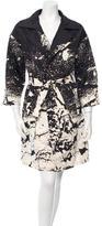Oscar de la Renta Printed Trench Coat