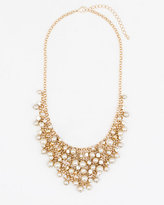 Le Château Gem & Pearl-Like Bib Necklace