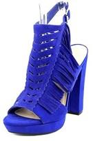 Bar III Nero Women Open Toe Suede Sandals.