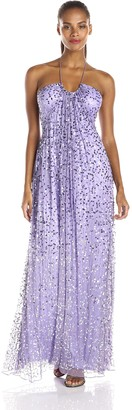 JS Boutique Women's Long Sequin Halter Gown