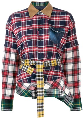 DSQUARED2 Patchwork Check Shirt