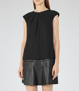 Reiss Livia Button-Back Top