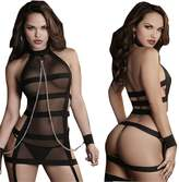 Puda Sexy Women Bandage Lingerie Gauze Pajamas Suit Witch Game Clothing