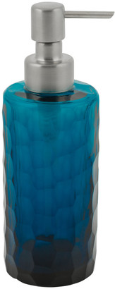 A By Amara Chisel Cut Glass Soap Dispenser - Midnight Blue