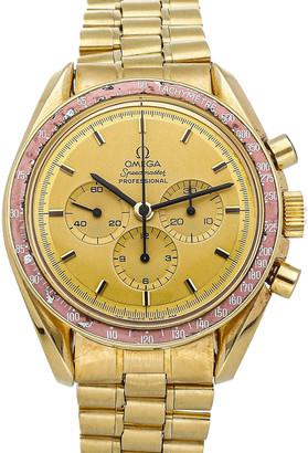 Omega Champagne 18K Yellow Gold Speedmaster Professional Moonwatch Apollo XI 1969 BA145.022 Men's Wristwatch 42 MM