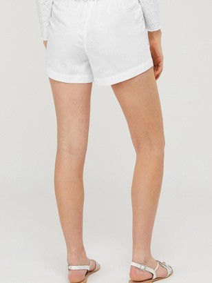 Monsoon Dani Embroidered Short - White