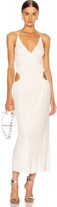 Dion Lee Pierced Dress in Ivory | FWRD
