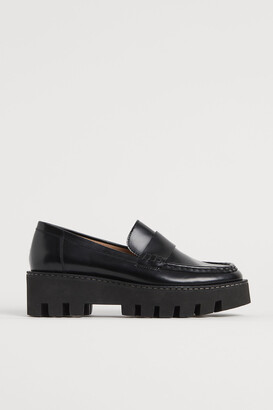 H&M Chunky leather loafers
