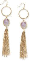 Kate Spade Gold-Tone Stone and Tassel Linear Drop Earrings