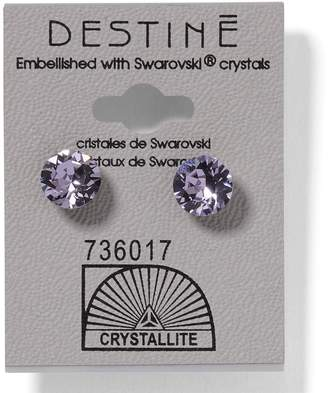 Crystallite Destine 8mm Diamond Cut Earrings